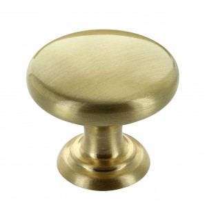 Monmouth 32mm Brushed Satin Brass Cabinet Door Knob