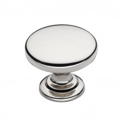Monmouth Polished Nickel Cabinet Knob - 32mm