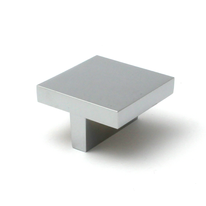 Polished Chrome Square Kitchen Cupboard Knobs 42mm
