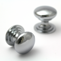 Polished Chrome Victorian Cupboard Knob | 32mm