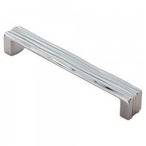 Veneti Rippled Cabinet Handle - Polished Chrome - 160mm Centres