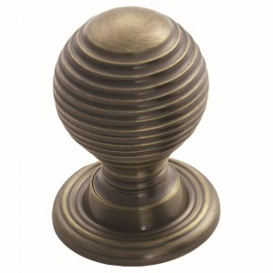 Florentine Bronze Queen Anne Reeded Knob | 35mm