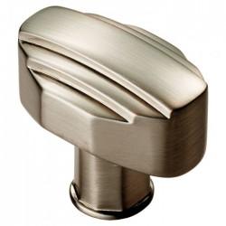 Satin Nickel Art Deco Cabinet Knob | 30mm