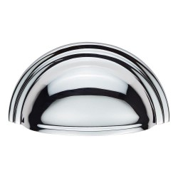 Victorian Polished Chrome Cup Pull Handle | 76mm Centres
