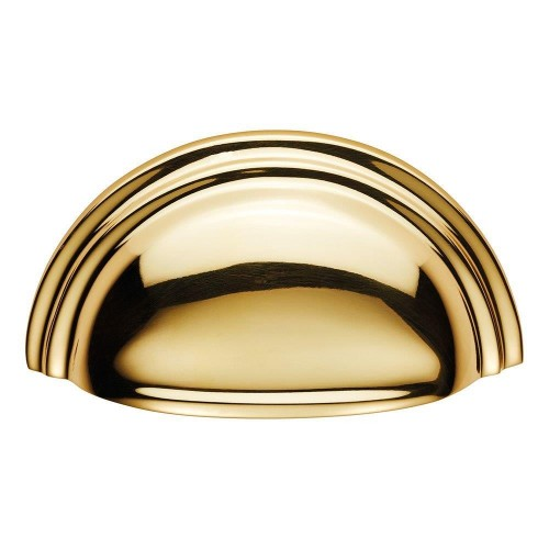 Victorian Polished Brass Cup Pull Handle | 76mm Centres