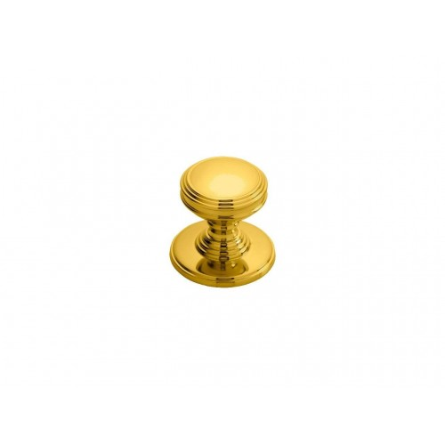 Delamain Polished Brass Plain Cabinet Knob - 25mm