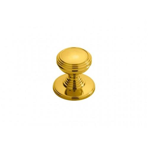 Delamain Plain Knob 30mm - Polished Brass