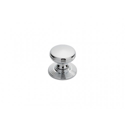 Delamain Polished Chrome Ringed Knob - 28mm