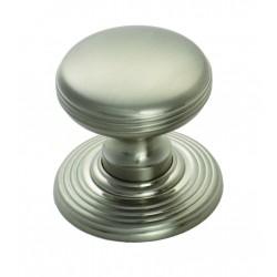 Satin Nickel Delamain Ringed Knob | 28mm
