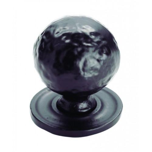 Hammered Pattern Ball Knob 32mm - Black Antique
