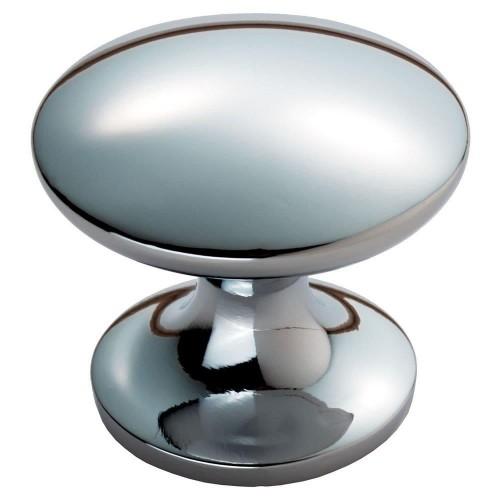 Silhouette Polished Chrome Cabinet Knob - 29mm