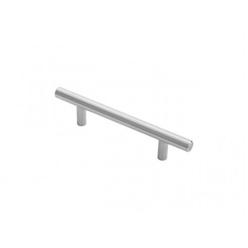 Steel T-Bar Handle - Satin Chrome - 96mm Centres