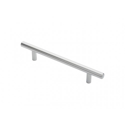 Polished Chrome T-Bar Handle - 128mm Centres