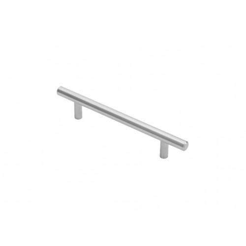 Steel T-Bar Handle - Satin Chrome - 128mm Centres