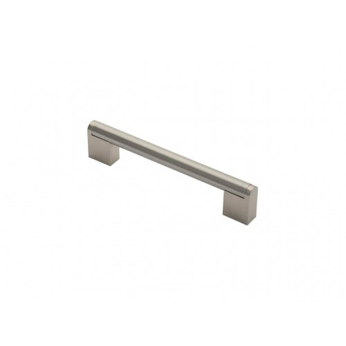 Boss Bar Handle - Satin Nickel/Stainless Steel - 128mm Centres