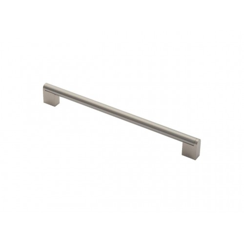 Bar Handle - 256mm Centres - Satin Nickel/Stainless Steel