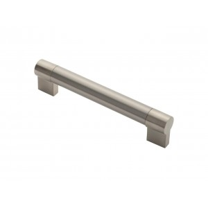 Large Keyhole Handle - 160mm Centres - Satin Nickel/Stainless Steel