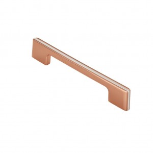 Harris Pull Handle - Copper/White - 128mm Centres
