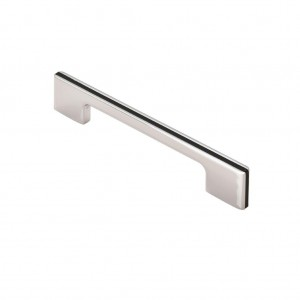 Harris Pull Handle - Polished Chrome/Black - 128mm Centres