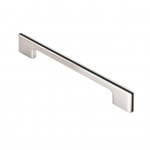 Harris Pull Handle - Satin Chrome/Black - 160mm Centres