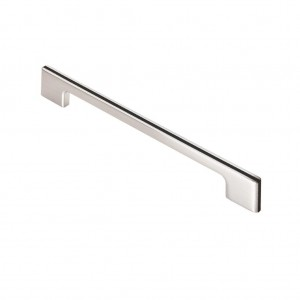 Harris Pull Handle - Polished Chrome/Black - 192mm Centres