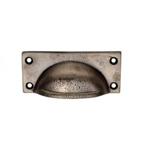 Square Plate Cup Handle - Pewter Finish