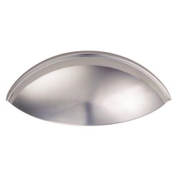 Contemporary Cup Handle - Polished Chrome - 64mm Centres