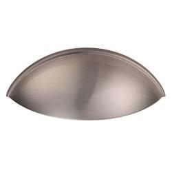 Contemporary Cup Handle - Satin Nickel - 64mm Centres