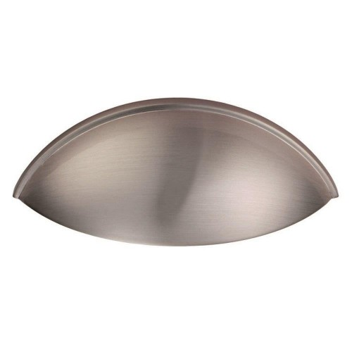 Contemporary Cup Handle - Satin Nickel - 64mm Centres