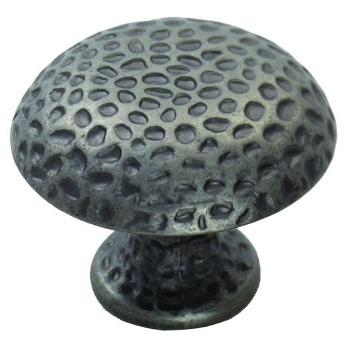Hammered Finish Knob 38mm - Antique Steel