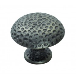 Hammered Finish Knob 32mm - Antique Steel