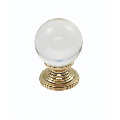 Clear Ball Knob 27mm - Clear Translucent Brass