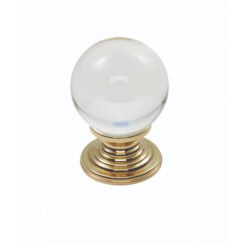 Clear Ball Knob 32mm - Clear Translucent Brass