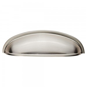 Shaker Cup Handle - Satin Nickel - 96mm Centres