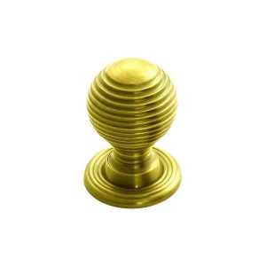 Queen Anne Knob - Polished Brass - 28mm