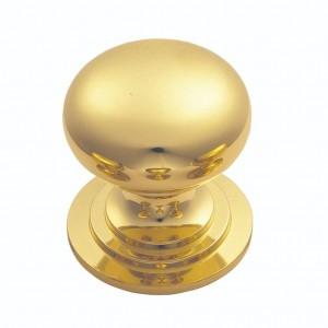 Victorian Cupboard Knob 32mm Polished Brass