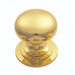 Polished Brass Victorian Cupboard Knob | 38mm
