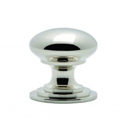 Victorian Cupboard Knob 38mm Polished Nickel
