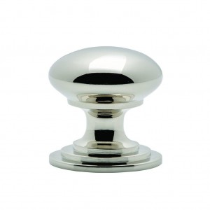 Polished Nickel Victorian Cupboard Knob | 38mm