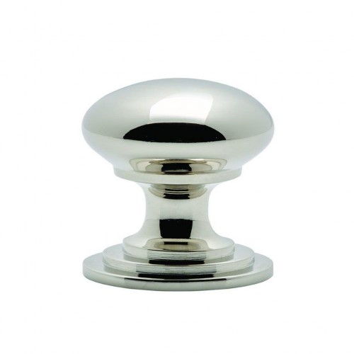 Polished Nickel Victorian Cupboard Knob | 50mm