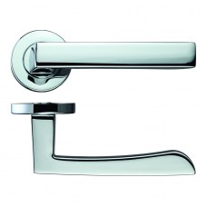 Mensa Door Handle on Rose Polished Chrome