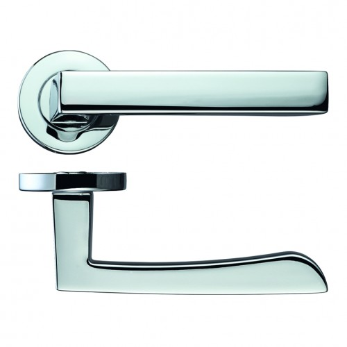 Mensa Polished Chrome Door Handles on Rose