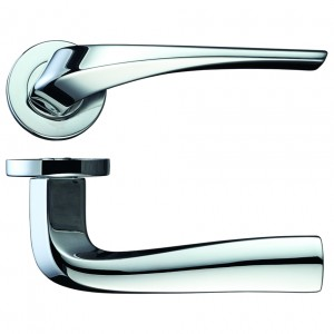 Aries Door Handle on Rose Polished Chrome