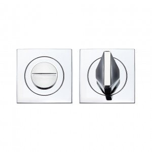 Square Bathroom/WC Turn & Release Polished Chrome