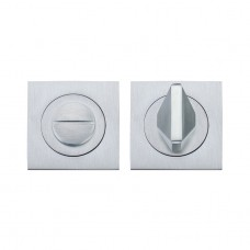 Square Bathroom/WC Turn & Release Satin Chrome