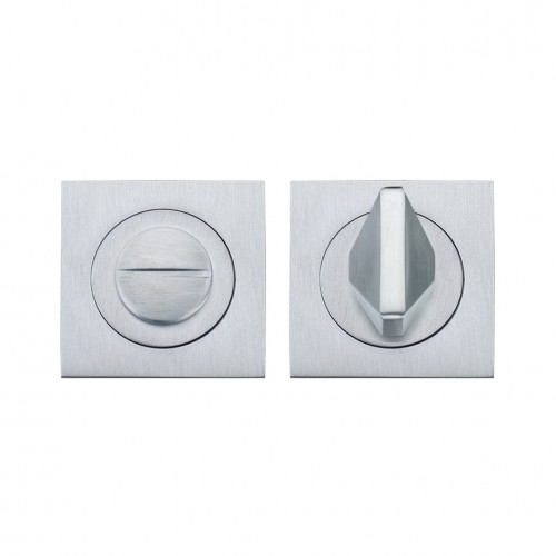 Square Bathroom/WC Turn & Release Satin Chrome