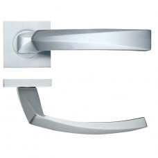 Hydra Door Handle on Square Rose Satin Chrome