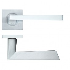 Lupus Door Handle on Square Rose Satin Chrome
