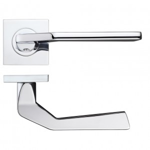 Auriga Door Handle on Square Rose Polished Chrome
