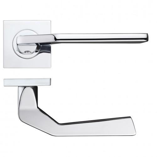 Auriga Door Handle on Square Rose Polished Chrome